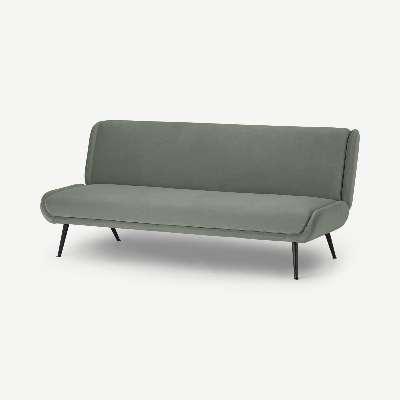 Moby Click Clack Sofa Bed, Pale Sage Velvet