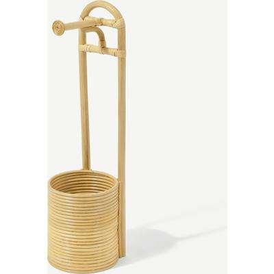 Nala Freestanding Toilet Roll Holder, Natural Rattan