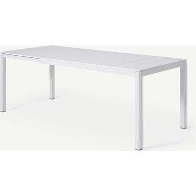 Nardi 6-8 Seat Extending Dining Table, White Aluminium