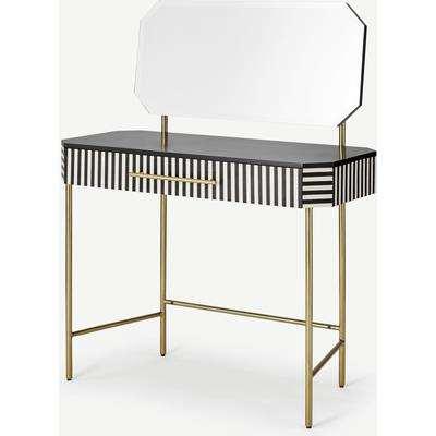 Noorali Dressing Table, Black & White Resin