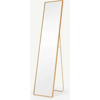 Parton Freestanding Full Length Mirror 35 x 151cm, Brushed Brass