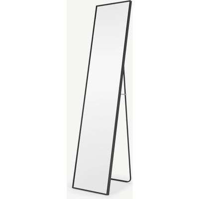 Parton Freestanding Full Length Mirror 35 x 151cm, Matt Black