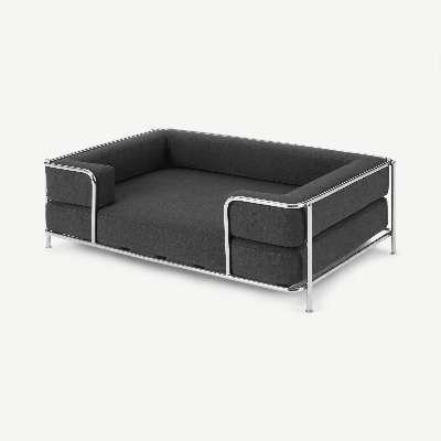 Piet Pet Sofa, S/M, Chrome & Grey