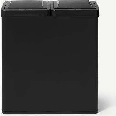 Rask 60L Touch-Free Sensor Recycling Bin, 2 x 30L, Matte Black