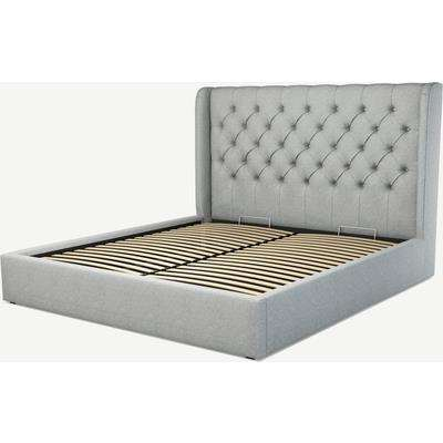 Romare Super King Size Ottoman Storage Bed, Wolf Grey Wool