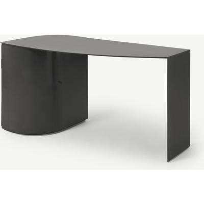 Romer Wide Storage Desk, Gunmetal