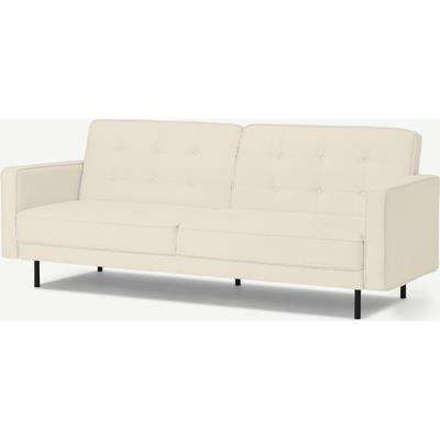 Rosslyn Click Clack Sofa Bed, Whitewash Boucle