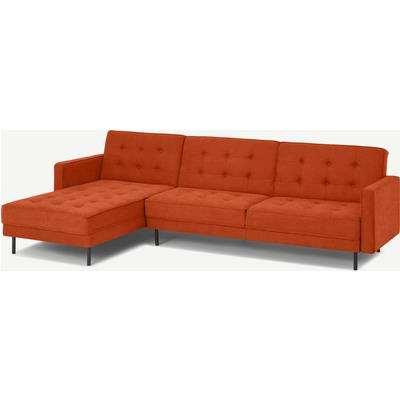 Rosslyn Left Hand Facing Chaise End Click Clack Sofa Bed, Sadona Orange