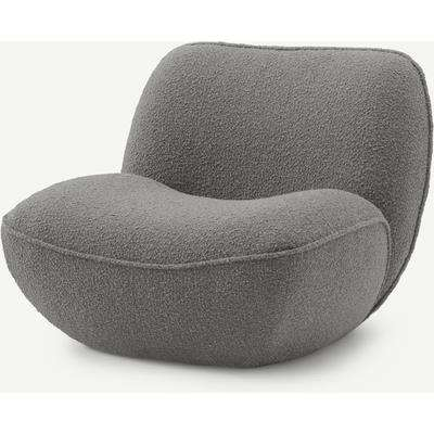 Sete Accent Armchair, Steel Boucle