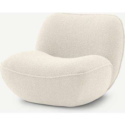 Cameo Accent Armchair, Whitewash Boucle