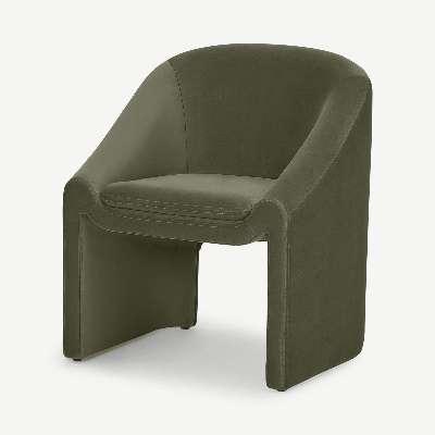 Shona Dining Chair, Pistachio Green Velvet
