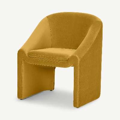 Shona Dining Chair, Vintage Ochre Velvet