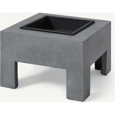 Square Outdoor Fire Pit, Cement