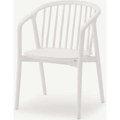 Tacoma Carver Dining Chair, Whitewash