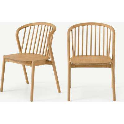 Tacoma Set of 2 Dining Chairs, Oak