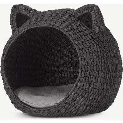 Tonka Novelty Shape Woven Cat House, Black