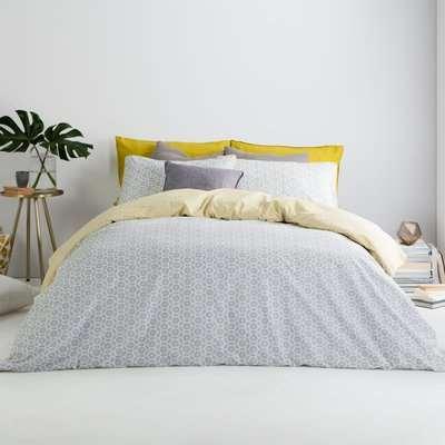 Trio Cotton Duvet Cover + 2 Pillowcases, Super King, Elephant Grey