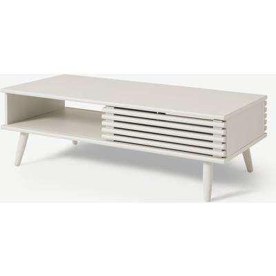 Tulma Storage Coffee Table, White-Washed Oak Effect