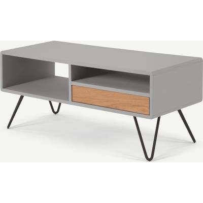 Ukan TV Stand, Grey and Oak