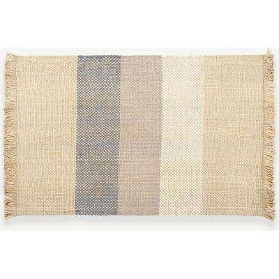 Varzea Jute Wool Rug, Medium 140 x 200cm, Natural/Blue
