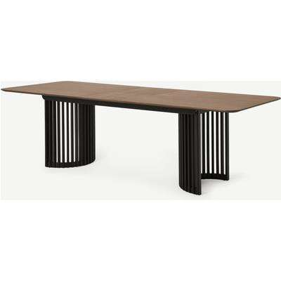 Zaragoza 6-10 Seat Extending Dining Table, Walnut & Charcoal Black