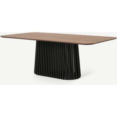 Zaragoza 8 Seat Dining Table, Walnut & Charcoal Black