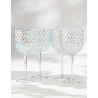 Set of 4 Lustre Picnic Wine Glasses grey