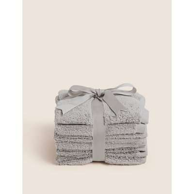 7 Pack Face Cloth Towels grey