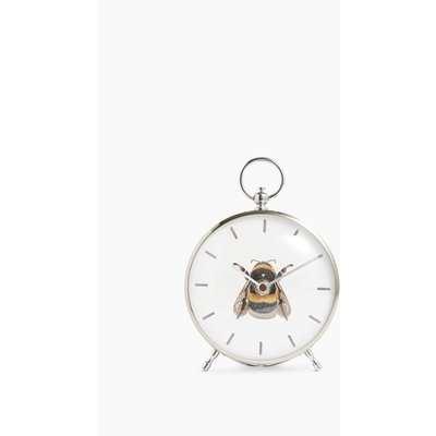 Bee Mantel Clock silver