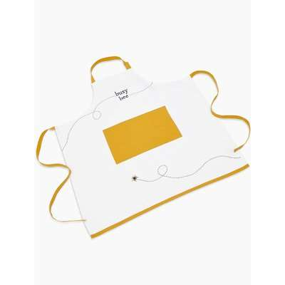 Bee Print Apron yellow