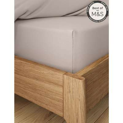 Comfortably Cool Deep Fitted Sheet brown