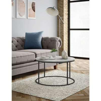 Farley Round Coffee Table white