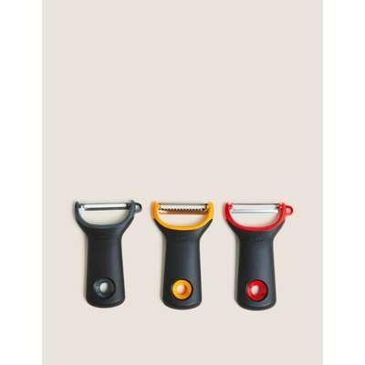 Good Grips 3pc Assorted Prep Peeler Set multi-coloured