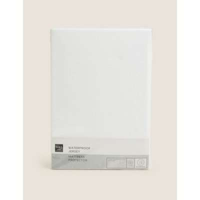 Jersey Waterproof Mattress Protector white