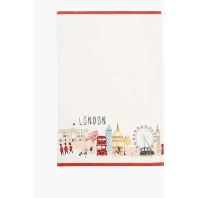 London Print Tea Towel multi-coloured