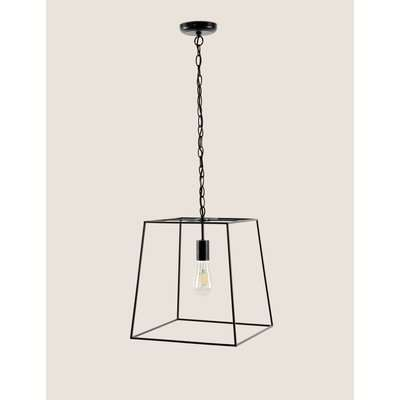 Manhattan Single Pendant Ceiling Light black