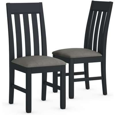 Set of 2 Padstow Fabric Dining Chairs blue