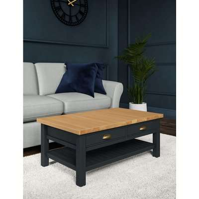 Padstow Storage Coffee Table blue