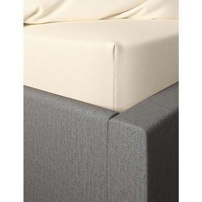 Percale Deep Fitted Sheet cream