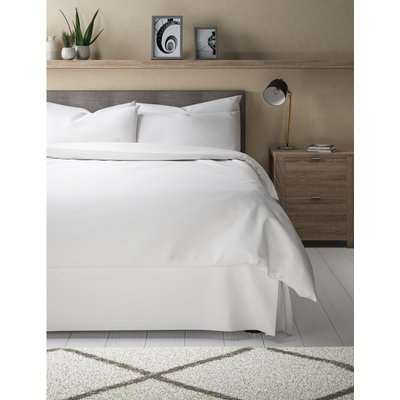 Percale Valance Sheet white
