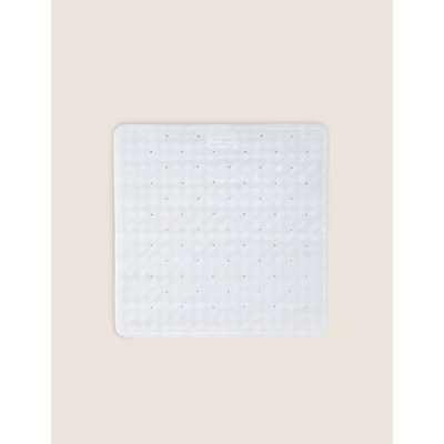Rubber Square Non Slip Shower Mat white