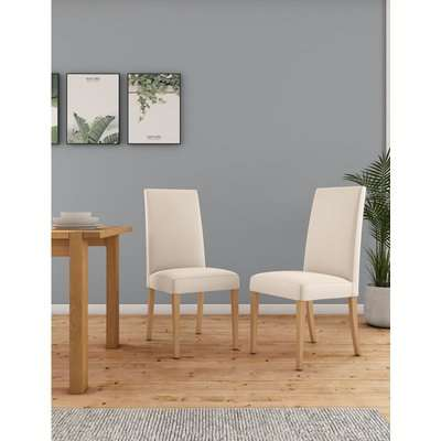 Set of 2 Alton Faux Leather Dining Chairs white