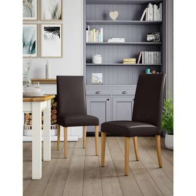 Set of 2 Alton Dining Chairs brown