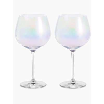 Set of 2 Lustre Gin Glasses grey