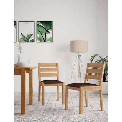 Set of 2 Sonoma Dining Chairs brown