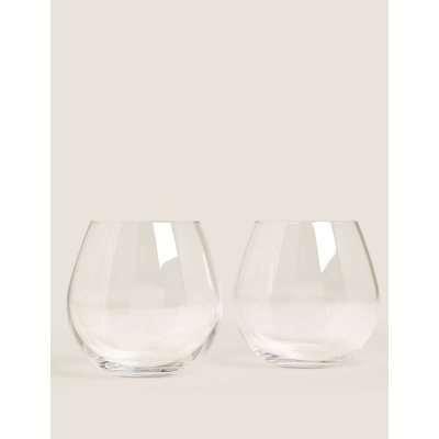 Set of 2 Stemless Gin Glasses beige