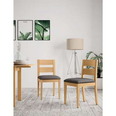 Set of 2 Stockholm Dining Chairs brown