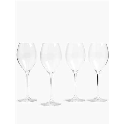 Set of 4 White Wine Glasses beige