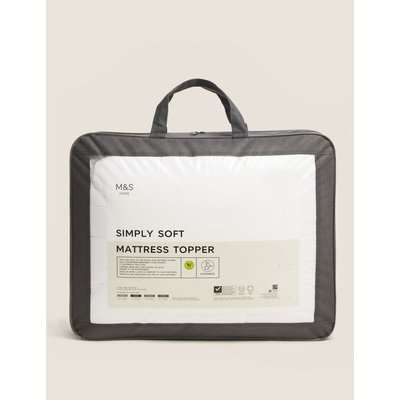 Simply Soft Mattress Topper white