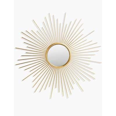 Sunburst Metal Round Mirror yellow